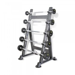 PHYSICAL COMPANY 5 Pair PU Barbells Sets with Racks at FitKit UK