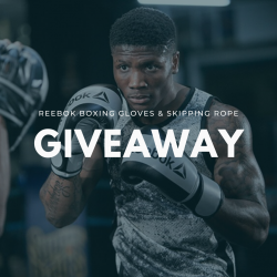 Reebok boxing gloves & skipping rope Giveaway