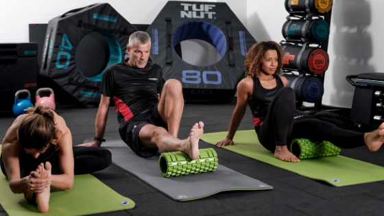 Foam roller is a perfect Christmas gift for fitness lovers