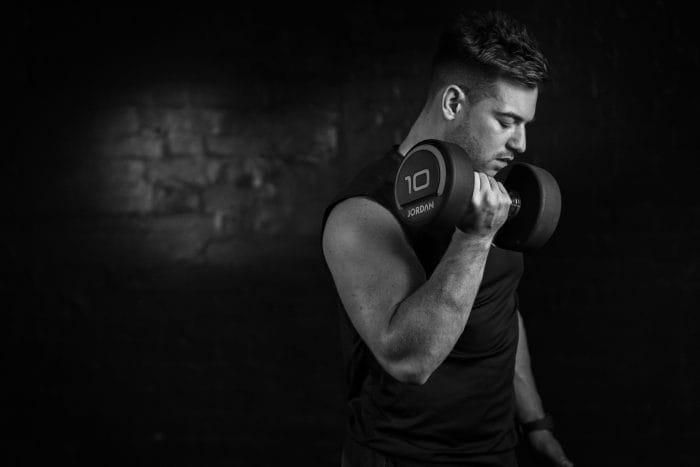 Jordan Fitness Premium Rubber Dumbbells